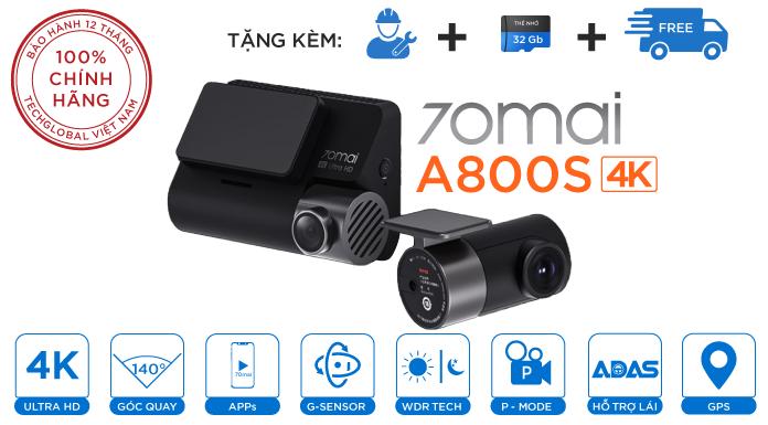 Camera Hành Trình Xiaomi 70mai A800S Phiên Bản Mới 4k Wifi GPS