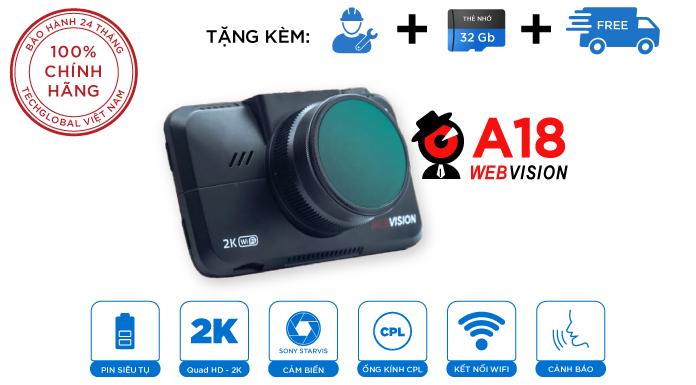 Camera hành trình Webvision A18 – Kết Hợp Đẳng Cấp Của 2 Phương Pháp Cảnh Báo Giao Thông