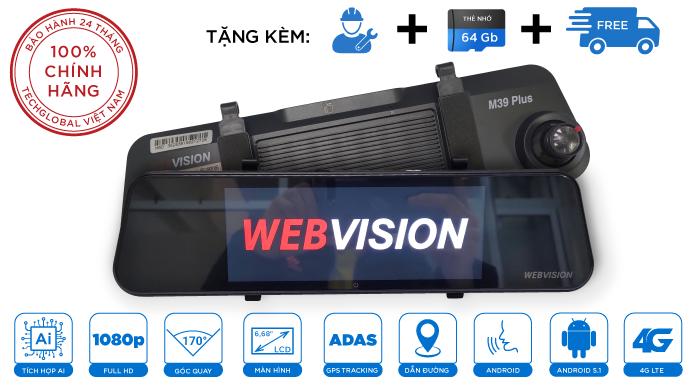 Camera Hành Trình Webvision M39 Plus Ra Lệnh Bằng Giọng Nói
