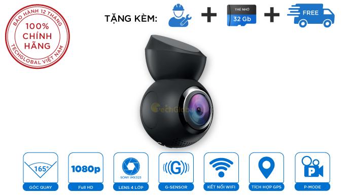 Camera Hành Trình Navitel R1050 Nhỏ Gọn Đầy Đủ Tính Năng Cảnh Báo Giao Thông