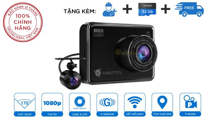 Camera Hành Trình Navitel R700 GPS Ghi Hình Camera Trước Và Sau Cảnh Báo Giao Thông