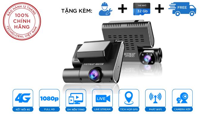 Camera Giám Sát Trực Tuyến Vietmap VM300 4G Wifi GPS