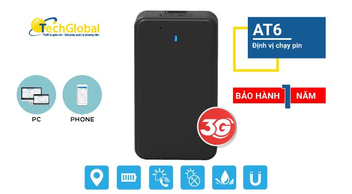 Thiết bị định vị chạy Pin AT6 chip 3G MỚI NHẤT - Pin khủng 10.000mAh chạy 30 ngày