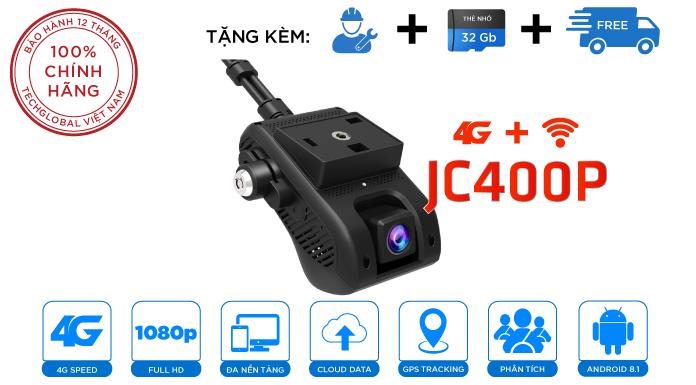 Camera Hành Trình JC400P Chip 4G Mới - Quay 2 Mắt - Xem Online - Định Vị