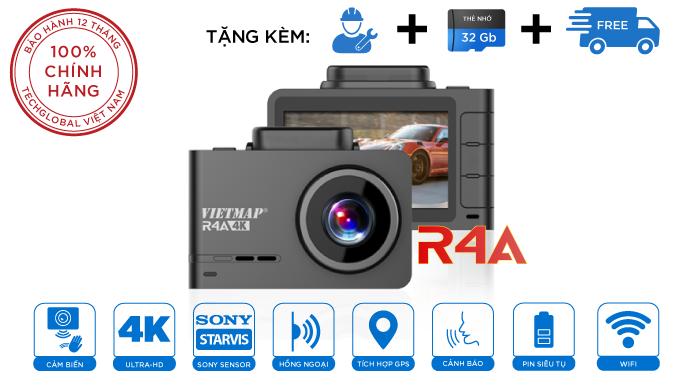 Camera Hành Trình Cảnh Báo Giao Thông Vietmap R4A Quét Biển AI