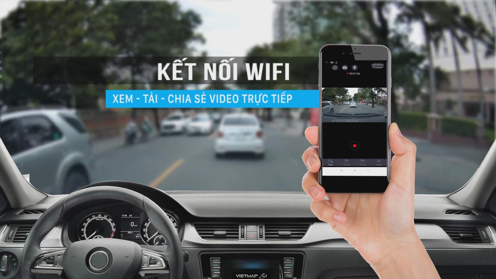 Tính năng Wifi giúp xem, tải và chia sẻ video dễ dàng