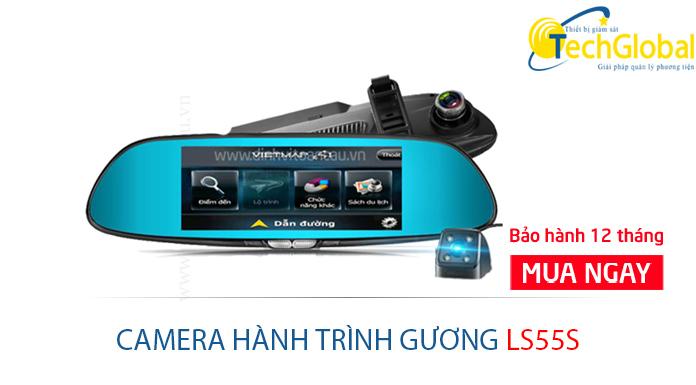 Camera hành trình gương ô tô LS55s của TechGlobal cung cấp