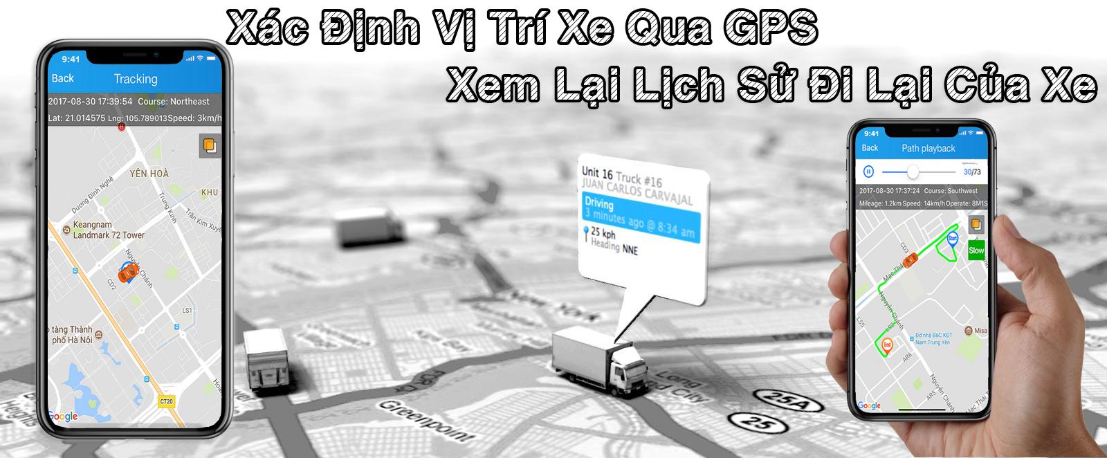 VM100 CÓ THỂ ĐỊNH VỊ VÍ TRÍ XE VÀ XEM LẠI LỊCH SỬ ĐI LẠI CỦA XE THÔNG QUA GPS