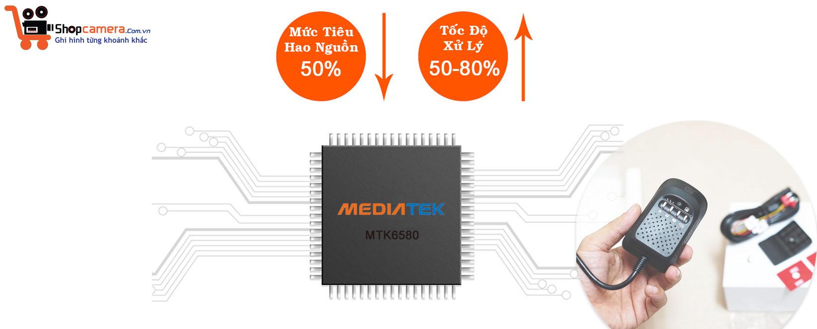 Sử dụng chipset MEDIATEK MTK6580 tốc độ cao và giảm 50% năng lượng tiêu thụ