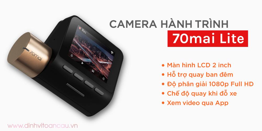 Camera hành trình 70mai Lite giá rẻ cho xe ô tô