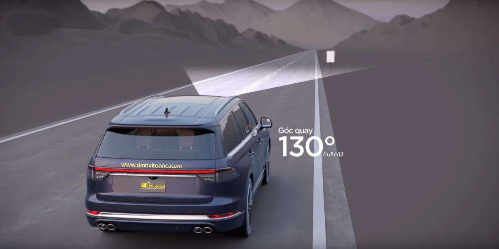 Camera hành trình 70mai Lite cho ô tô có góc quay lên đến 130 độ