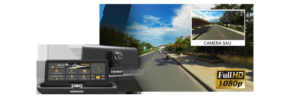 Với camera trước ghi hình Full HD 1080p, camera sau hỗ trợ LED ghi hình rõ nét toàn cảnh Trước & Sau xe.