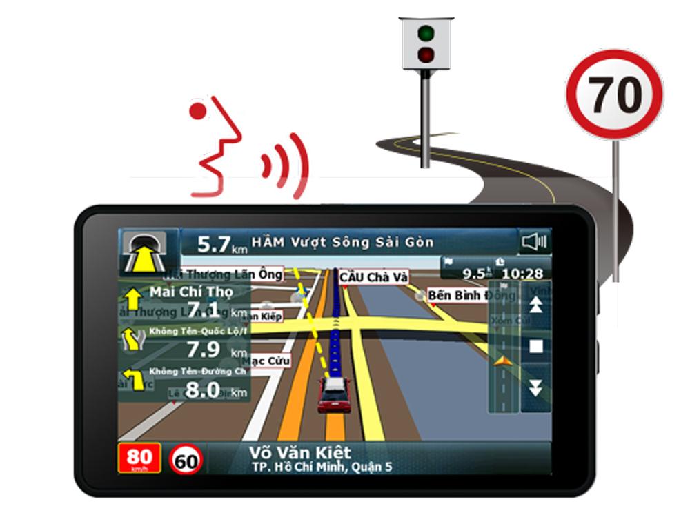 Camera hành trình A50 có cảnh báo giới hạn tốc độ