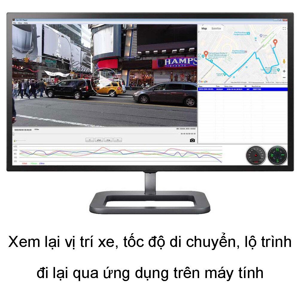 Camera Hành Trình Vietmap C62S Phiên Bản Mới cho phép khách hàng xem lại video trên máy tính