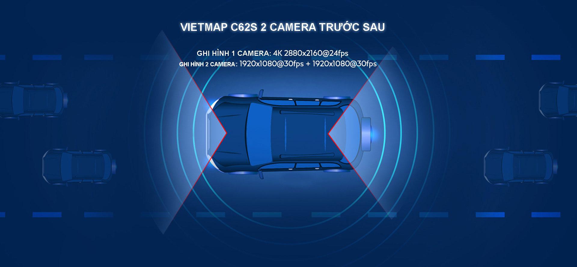 Camera Hành Trình Vietmap C62S Phiên Bản Mới có 2 sự lựa chọn độ phân giải
