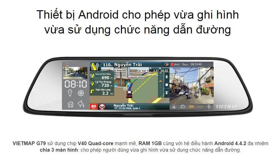 G79 có hệ điều hành android thông minh