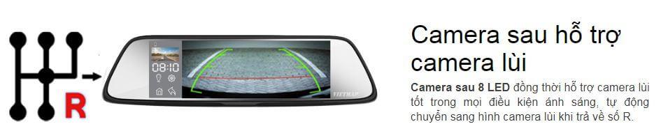 G79 hỗ trợ kết nối Camera lùi của xe