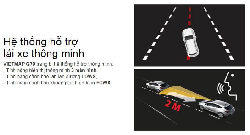 Cảnh báo giao thông thông minh được tích hợp trong G79