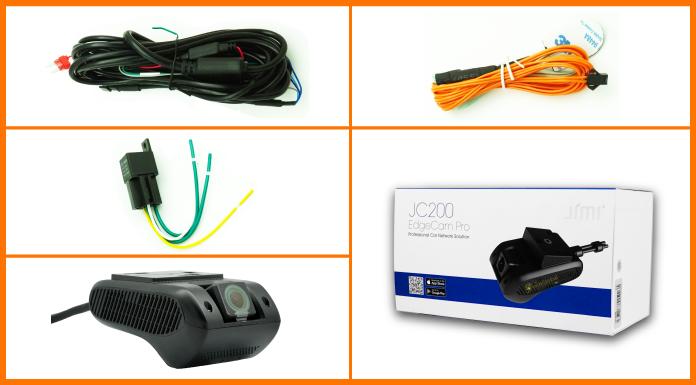 Trọn bộ camera hành trình JC200 do TechGlobal cung cấp