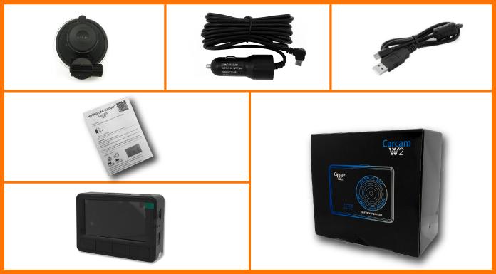 Trọn bộ camera hành trình W2 của TechGlobal cung cấp