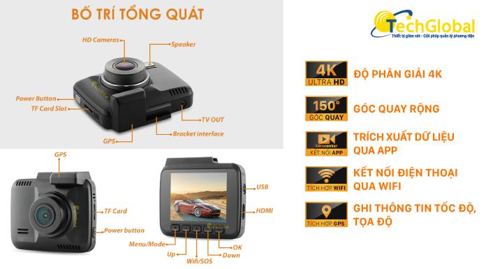 Camera hành trình W8 của TechGlobal cung cấp với rất nhiều ưu điểm nổi bật