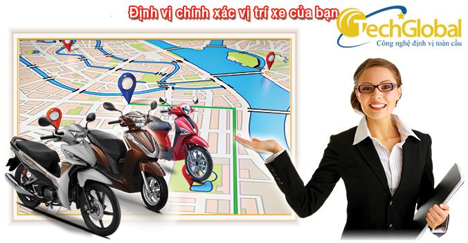 Cài đặt thiết bị định vị xe máy tại TechGlobbal. Gắn thiết bị định vị xe máy ở đâu tốt?