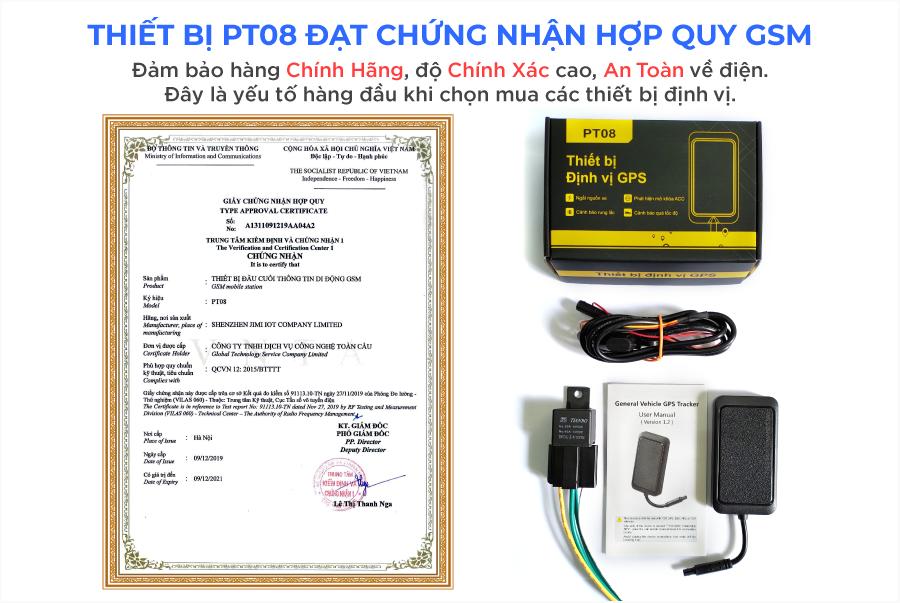 PT08 được chứng nhận hợp quy GSM