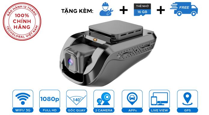 Camera hành trình Vietmap iCAM VM100 Xem Video trực tuyến 3G Wifi GPS