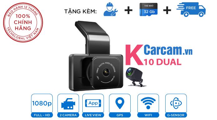 Camera Hành Trình CarCam K10 GPS 2 Camera Trước Sau