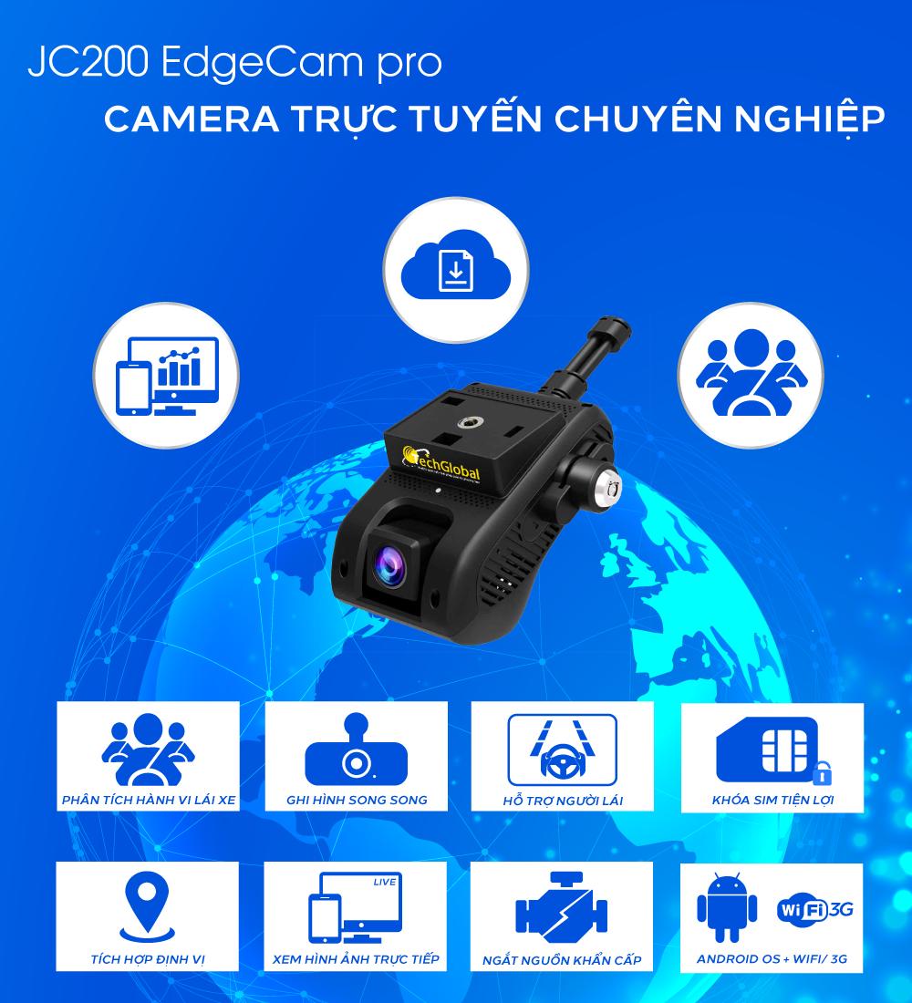 Camera hành trình JC200 chính hãng do TechGlobal cung cấp