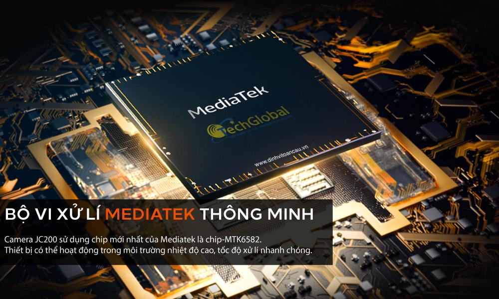 Camera hành trình JC200 sử dụng chip Mediatek giúp xử lý nhanh