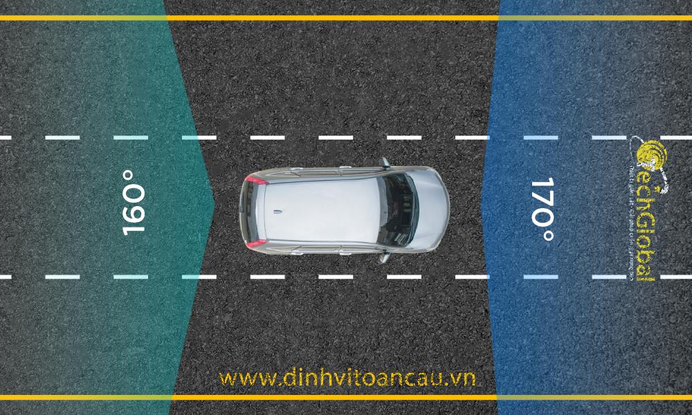 camera hành trình C62 có góc quay rộng giúp lái xe quan sát xung quanh xe dễ dàng hơn