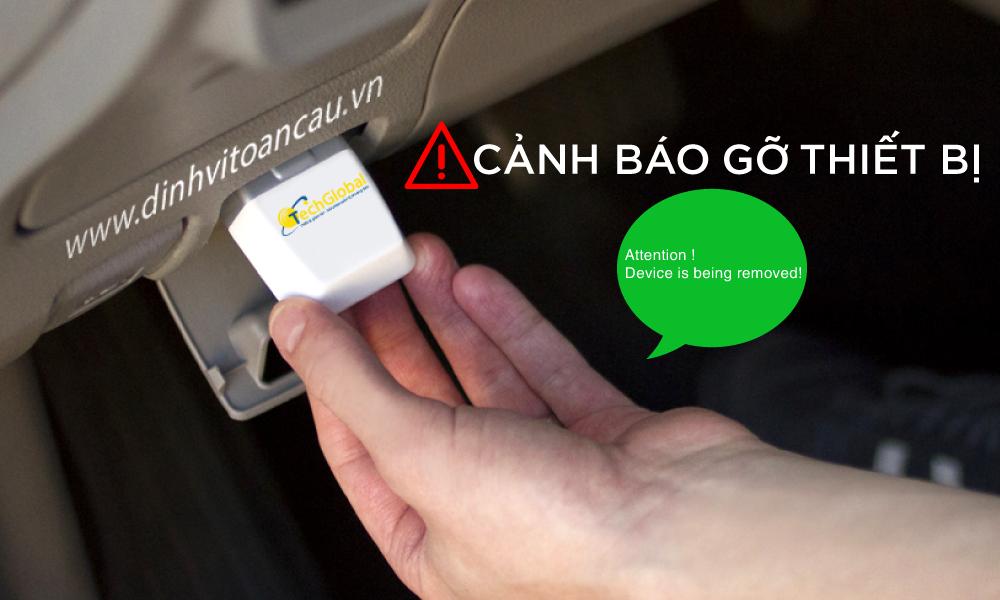 Thiết bị định vị OB22 phát cảnh báo khi thiết bị được rút khỏi cồng OBD của xe ô tô