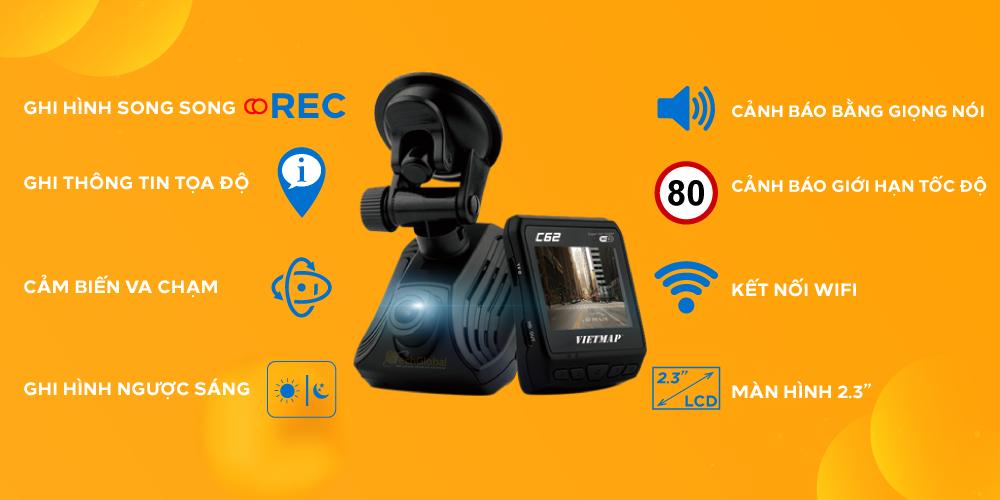 Camera hành trình cho xe ô tô C62 củ TechGlobal cung cấp