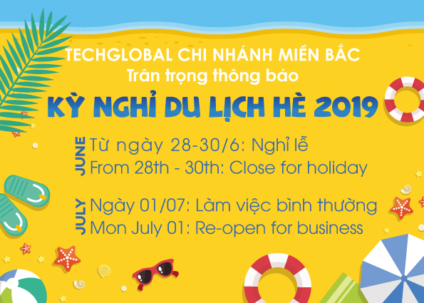 Thông báo lịch nghỉ du lịch văn phòng miền Bắc của TechGlobal 2019