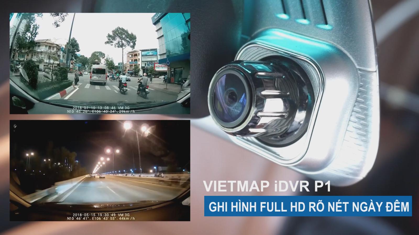 iDVR P1 ghi hình trước sau rõ nét