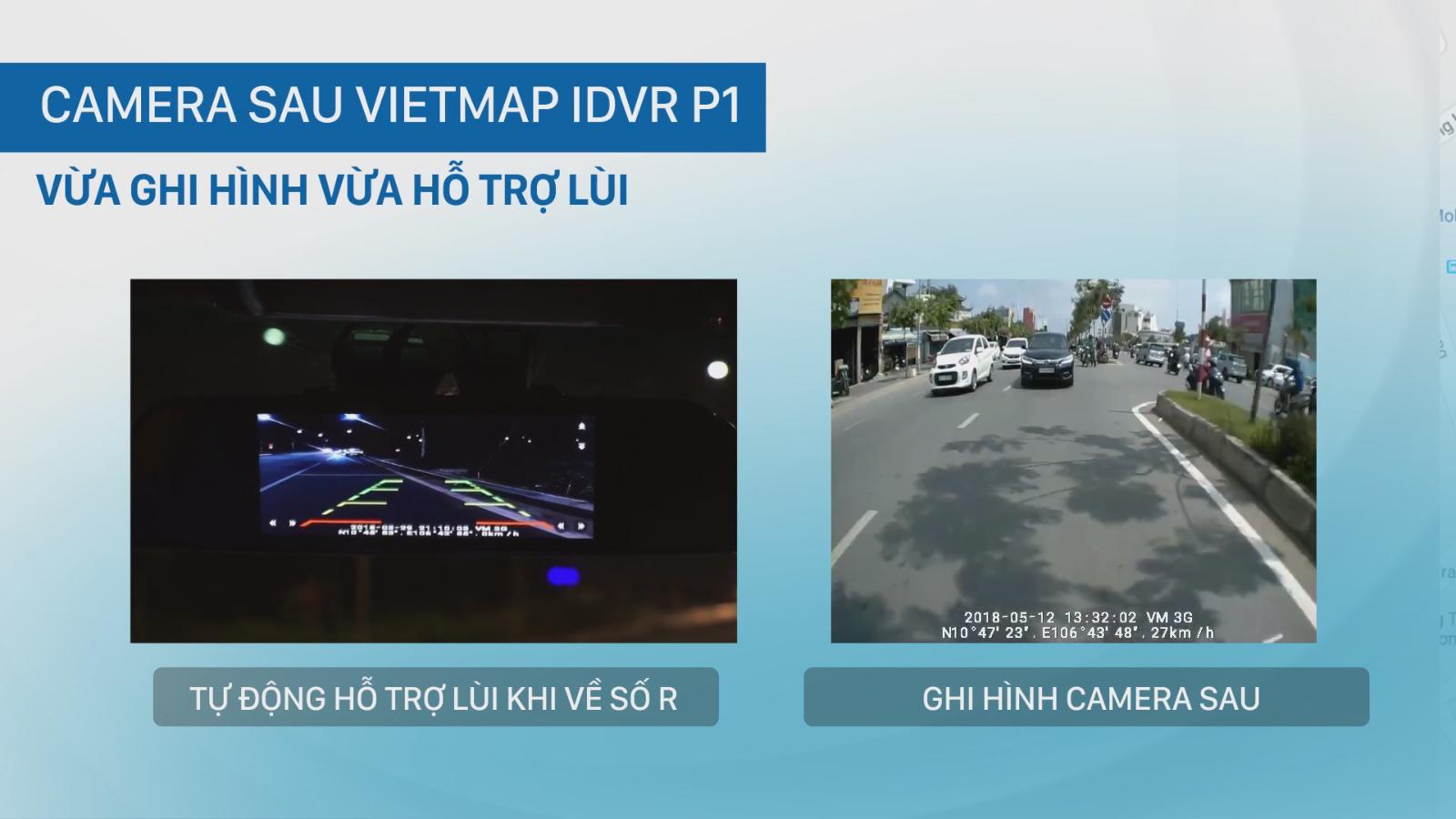 iDVR P1 hỗ trợ hiển thị thành Cam lùi