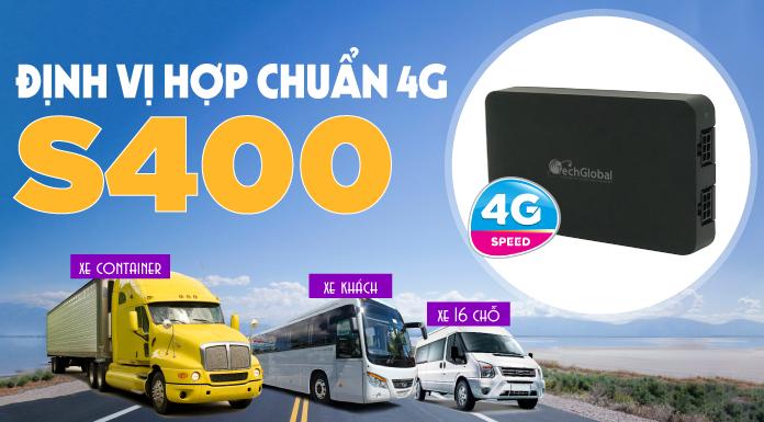 Thiết Bị Định Vị Ô Tô S400 Chip 4G - Giám Sát Hành Trình Hợp Chuẩn Bộ GTVT