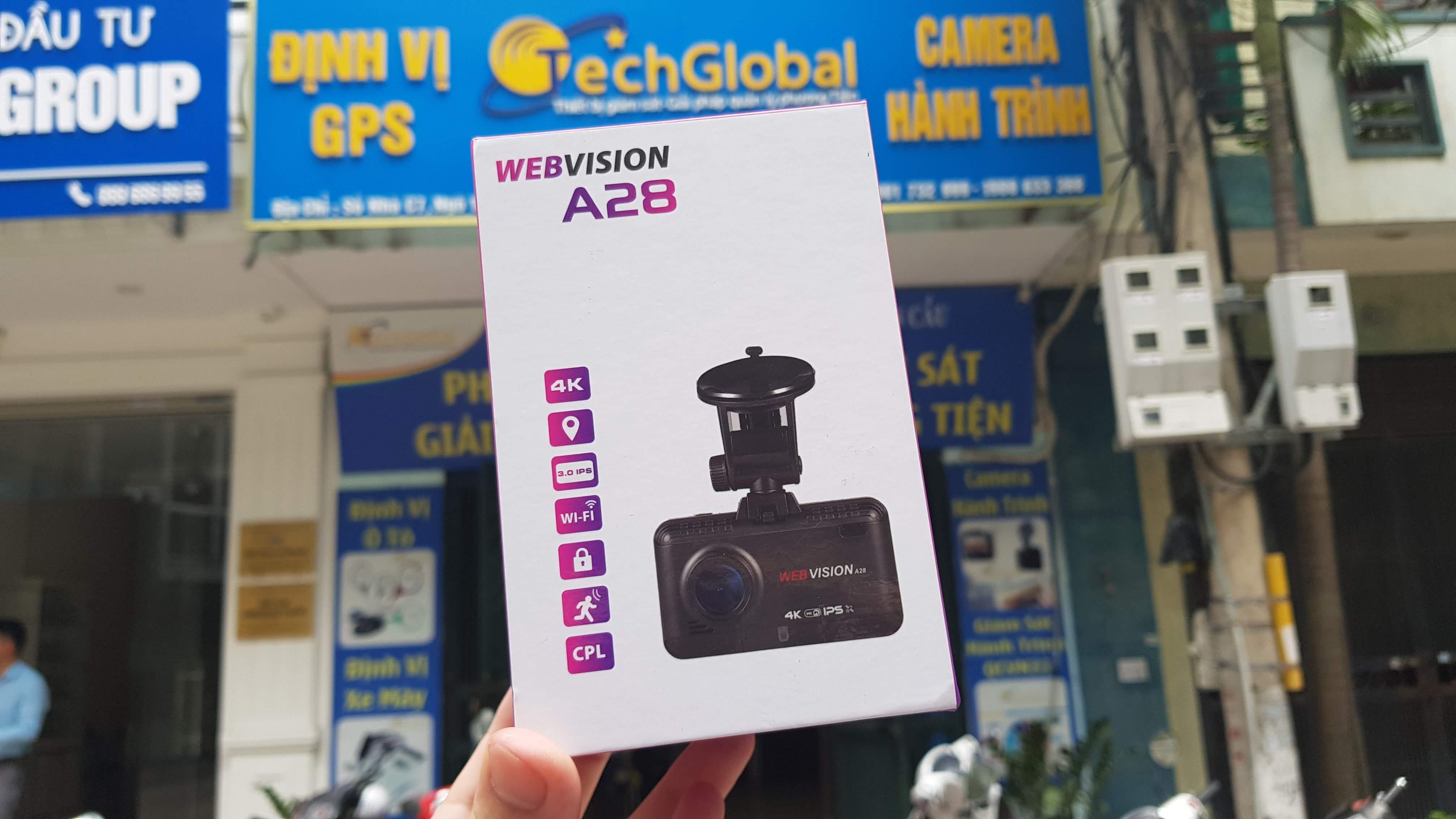 Camera Hành Trình Webvision A28 - Cảnh Báo Giao Thông - Ghi Hình 4K-111