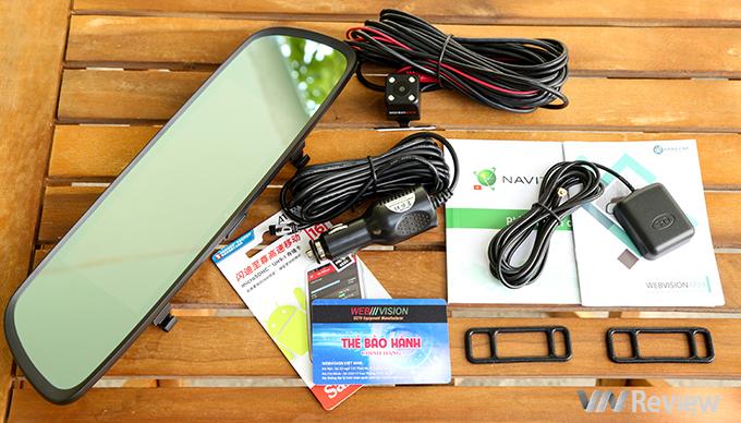 Camera Hành Trình Gương Webvision M39 AI Tích Hợp GPS - Wifi - Giám Sát Từ Xa -107