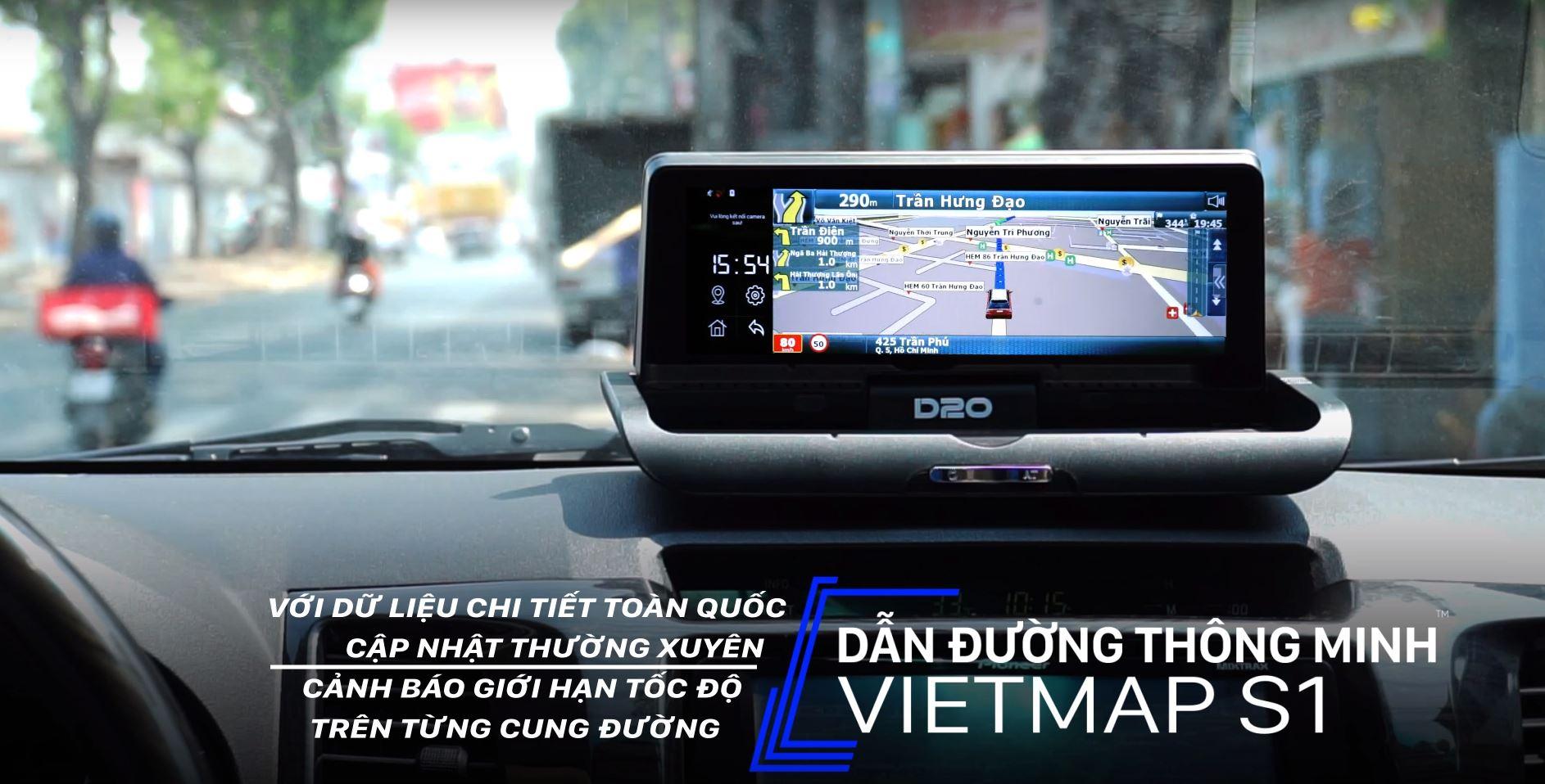 Camera hành trình Vietmap D20 đặt Taplo 2 mắt - Kiêm Dẫn đường - Định vị gps-96